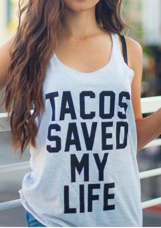 Tacos Saved My Life Tank