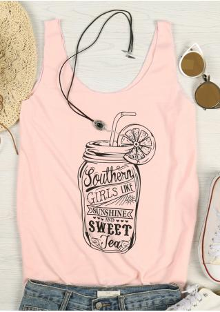 Southern Girls Like Sunshine And Sweet Tea Tank