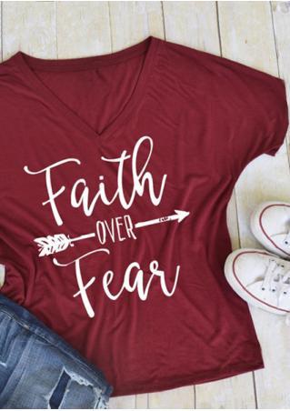 Faith Over Fear Arrow T-Shirt