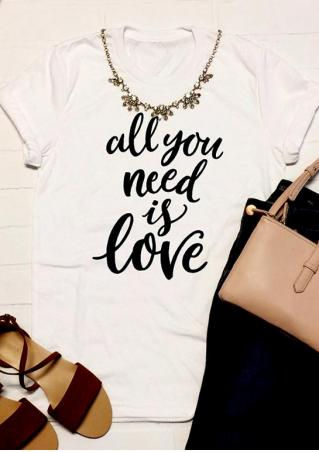 All You Need Is Love T-Shirt without Necklace All