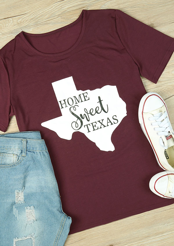 Home Sweet Texas T Shirt Fairyseason
