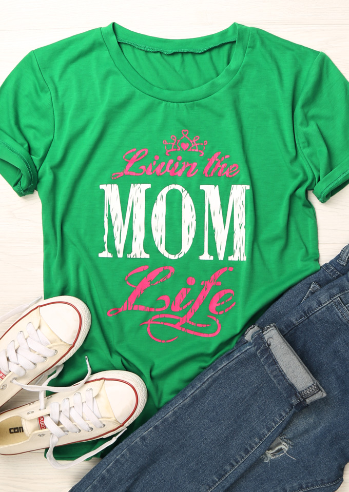 Livin The Mom Life T Shirt Fairyseason
