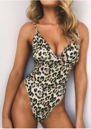 Leopard Printed Swimsuit