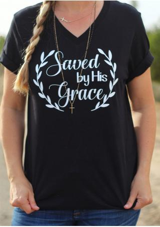 Saved By His Grace T-Shirt without Necklace