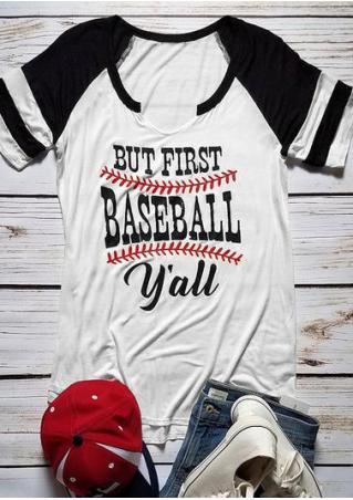 But First Baseball Y'all Baseball T-shirt