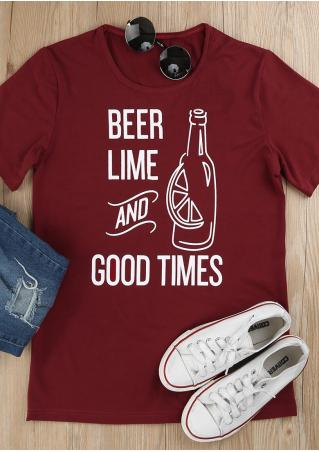 Beer Lime And Good Times T-Shirt