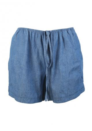 Solid Elastic Pocket Shorts