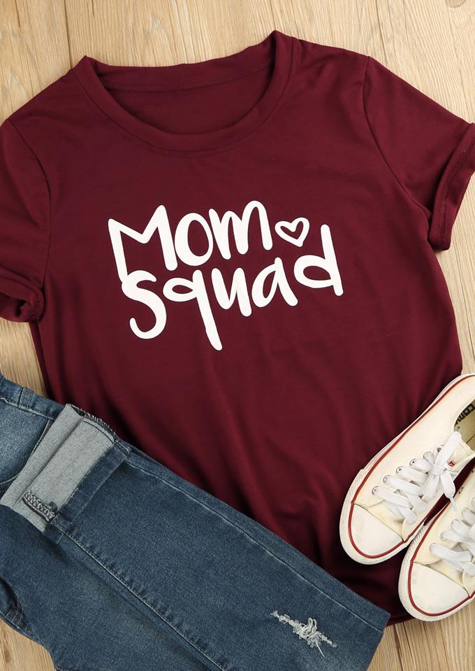 Tricou de damă, casual, slim fit, cu imprimeu grafic, mâneci scurte și guler rotund
