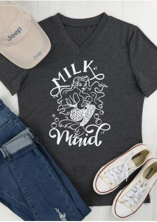 Milk Maid Mermaid Breastfeeding T-Shirt
