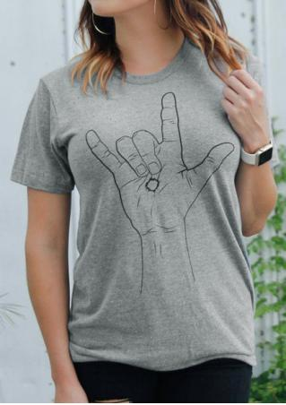 I Love You Gesture T-Shirt