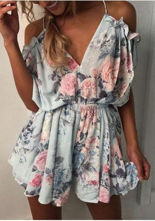 Floral Ruffled Romper