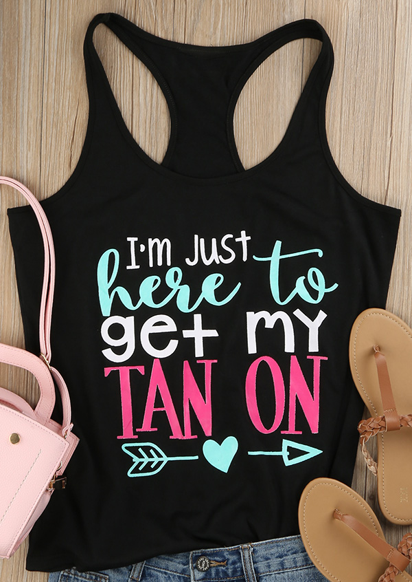 I M Just Here To Get My Tan On Tank Fairyseason