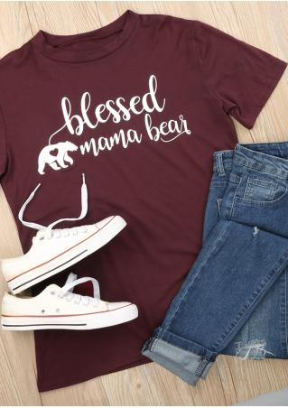Blessed Mama Bear T-Shirt Blessed