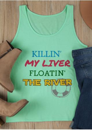 Killin' My Liver Floatin' The River O-Neck Tank