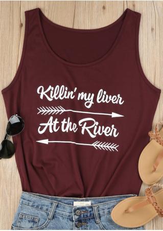 Killin' My Liver At The River Arrow Tank