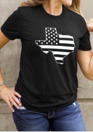 American Flag Texas T-Shirt