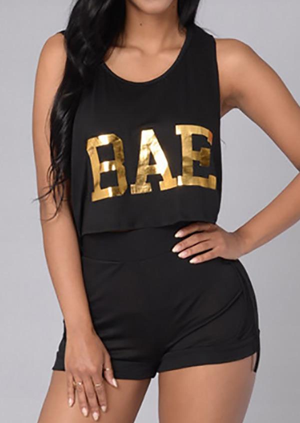 Image of Bae Drawstring Crop Top and Shorts Set