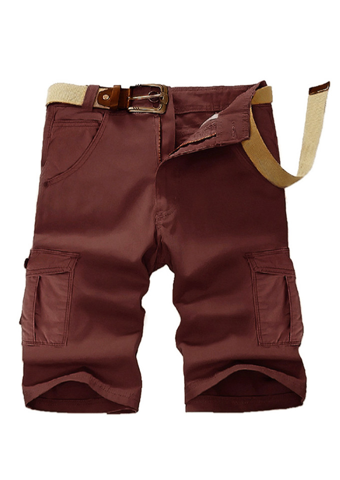 bfcbba8696 Solid Pocket Cargo Shorts without Belt - Fairyseason