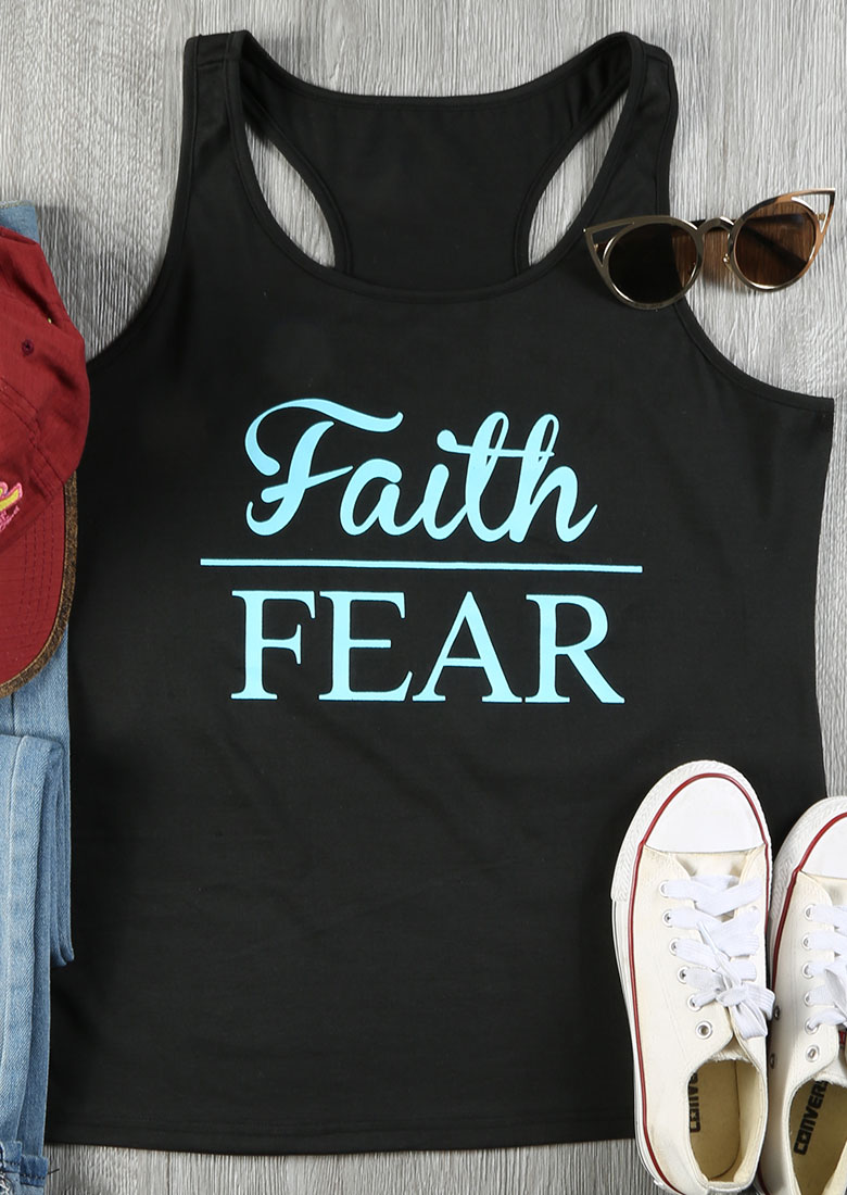 Faith Over Fear Tank Fairyseason