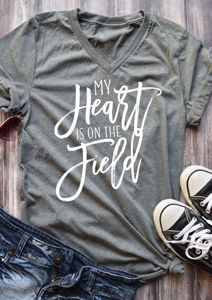 My Heart Is On The Field T Shirt Fairyseason