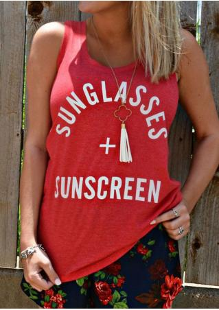 Sunglasses And Sunscreen Tank without Necklace