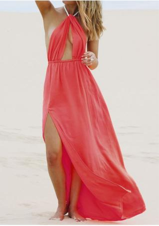 Halter Backless Maxi Dress