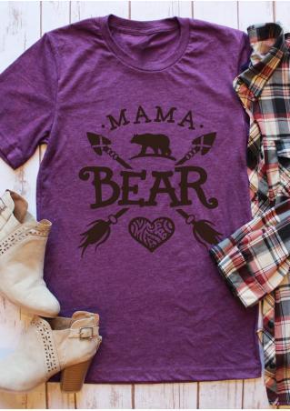 Mama Bear Arrow Heart T-Shirt