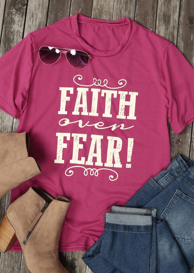 Faith Over Fear T Shirt Fairyseason