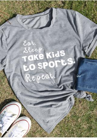 Eat Sleep Take Kids to Sports Repeat T-Shirt