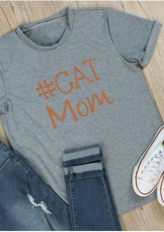 Cat Mom T-Shirt Cat