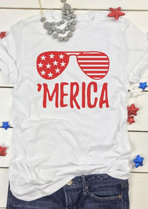 Merica Glasses T Shirt Fairyseason