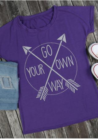 Go Your Own Way Arrow T-Shirt