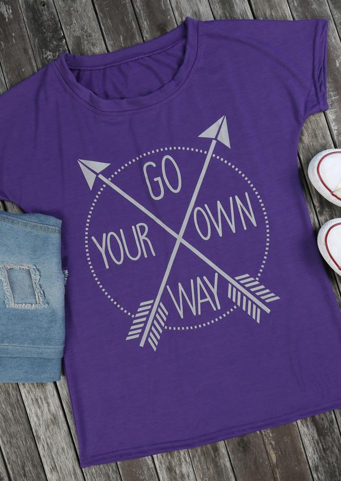 Tricou de damă, casual, slim fit, cu imprimeu grafic, guler rotund și mâneci scurte