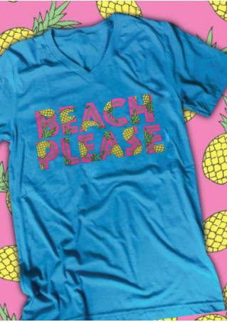 Beach Please PineappleT-Shirt