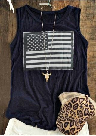 American Flag Tank without Necklace