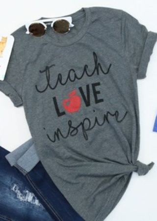Teach Love Inspire T Shirt Fairyseason