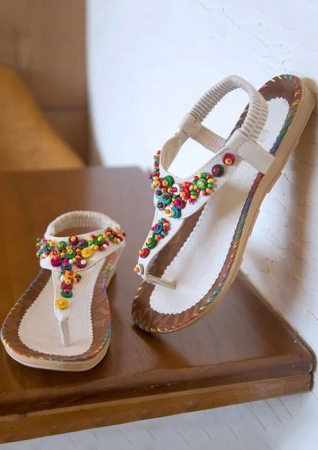 Image of Beading Flat Sandals