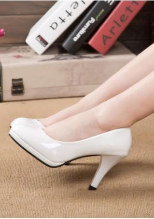 Round Toe Heeled Pumps