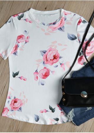 Floral O-Neck T-Shirt