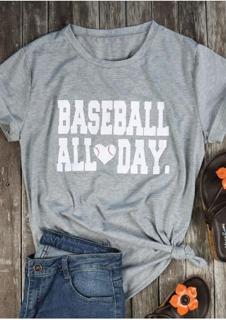 Baseball All Day Heart T-Shirt
