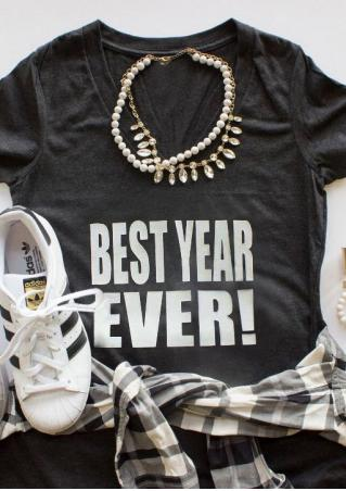 Best Year Ever T-Shirt without Necklace Best
