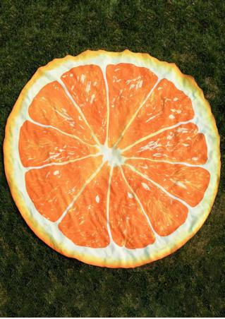 Orange Slice Round Beach Blanket
