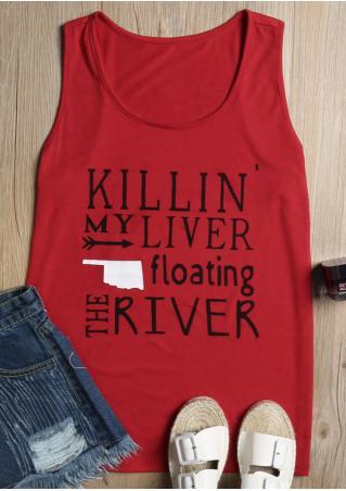 Killin' My Liver Floating The River Tank