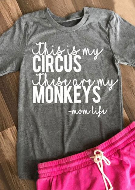Circus amp Monkeys T Shirt Fairyseason