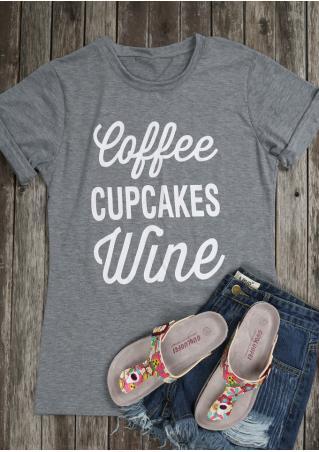 Coffee Cupcakes Wine T-Shirt