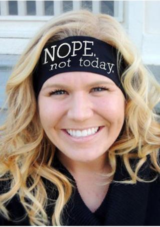Nope Not Today Embroidered Headband