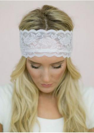 Solid Lace Floral Headband