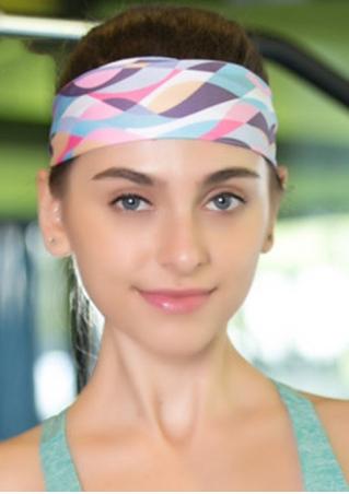 Multicolor Printed Elastic Sport Headband