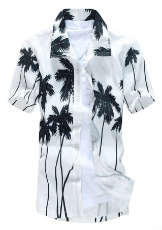Coconut Tree Short Sleeve Shirt