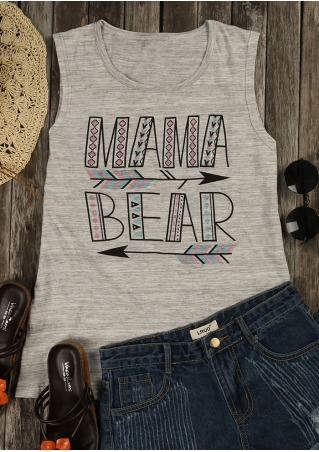 Mama Bear Arrow Geometric Tank